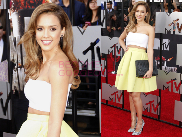 Jessica Alba 2014 Movie Awards Outfit