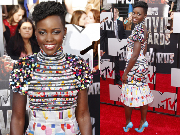 Lupita Nyongo 2014 Movie Awards Dress