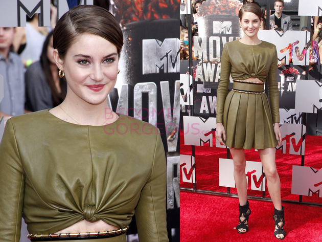 Shailene Woodley 2014 Movie Awards Outfit