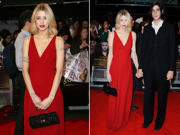 Peaches Geldof Red Dress