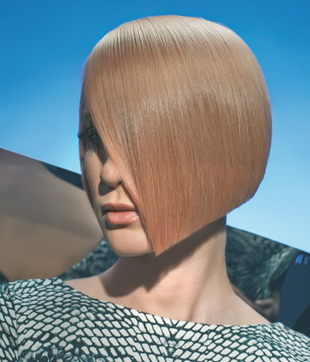 Sleek Angled Medium Bob Haircut