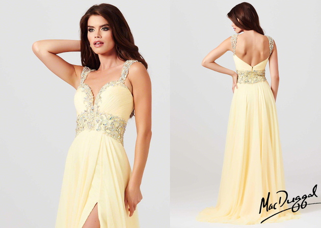 High Slit Prom Dress