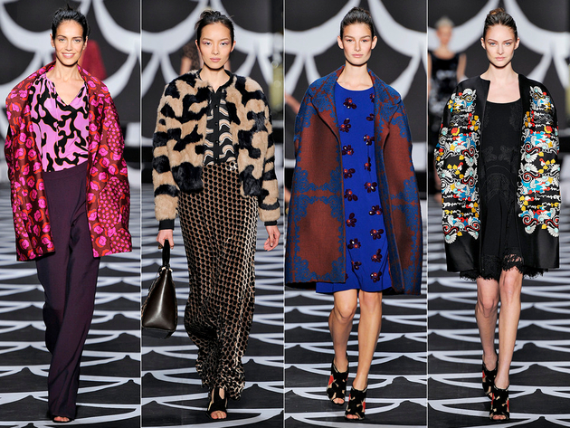Diane Von Furstenberg Bohemian Wrapsody Fall 2014 Collection