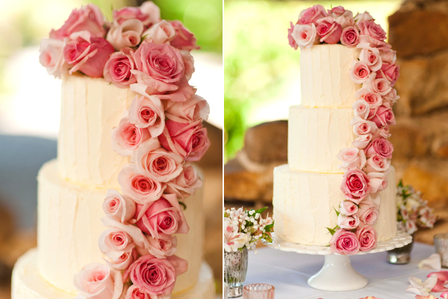 Chocolate Rosewater Wedding Cake