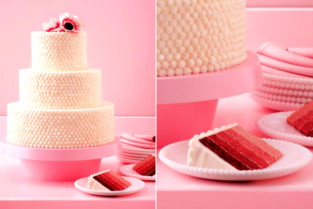 Coconut Red Velvet Wedding Cake