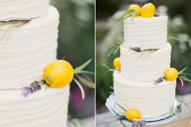 Lemon Flavor Wedding Cake