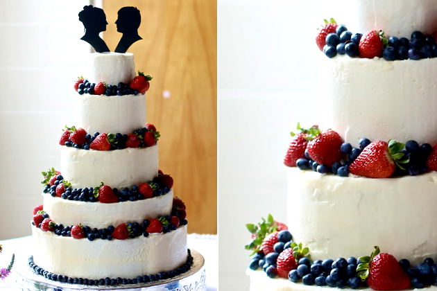 Vanilla Berry Wedding Cake