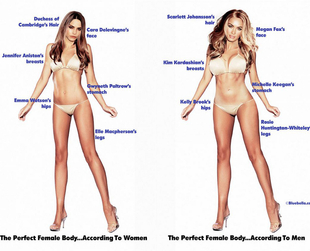 A new study reveals the key differences between men and women's perceptions as to how the perfect body looks like. Check out the study's findings.