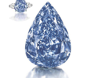 The biggest vivid blue diamond in the world is heading to Christie's Magnificent Jewels auction. Find out the precious stone's estimate sale price!