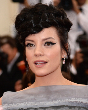 Lily Allen Braided Hairstyle Met Gala 2014