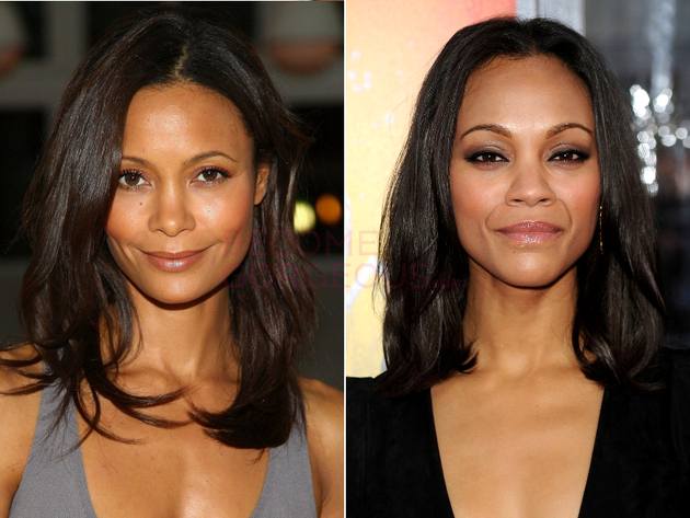 Thandie Newton And Zoe Saldana Look Alike