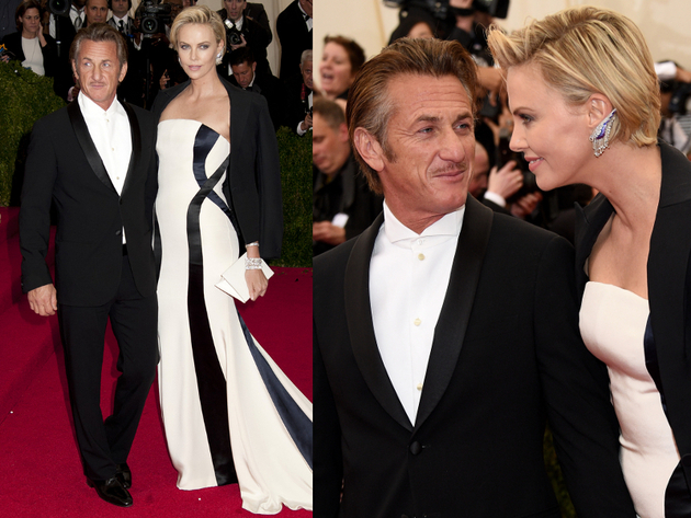 Charlize Theron And Sean Penn 2014 Met Ball