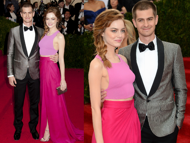 Emma Stone And Andrew Garfield 2014 Met Ball