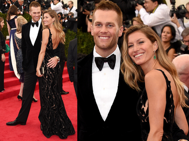 Gisele Bundchen And Tom Brady 2014 Met Ball