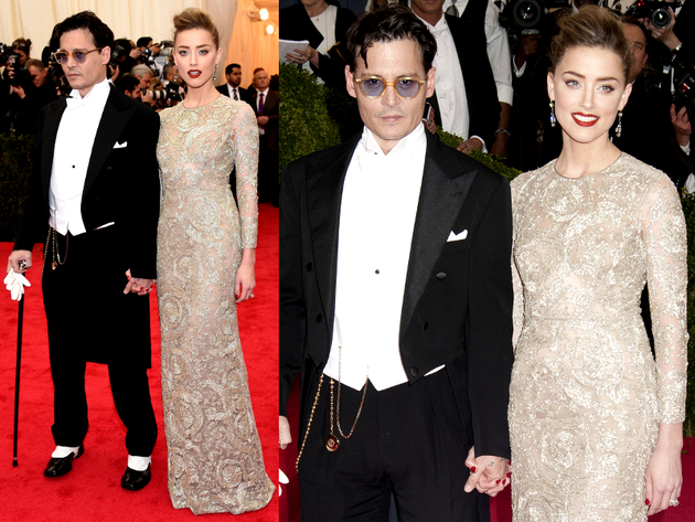 Johnny Depp And Amber Heard 2014 Met Ball