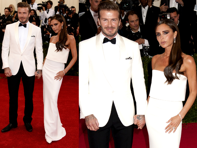 Victoria And David Beckham 2014 Met Ball