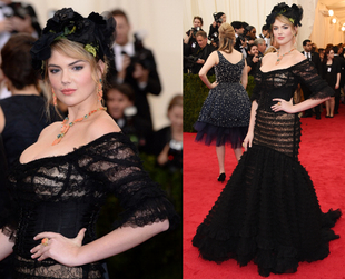 Designers and models joined celebrities on the red carpet at the Met Ball, and some of the biggest models showed up in gorgeous outfits. Discover the best ones.
