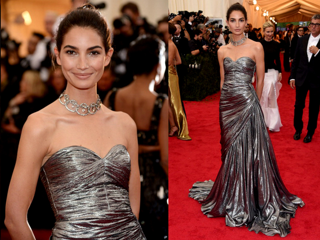 Lily Aldridge Dress Met Ball 2014
