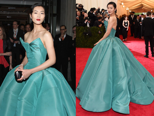 Liu Wen Gown Met Ball 2014