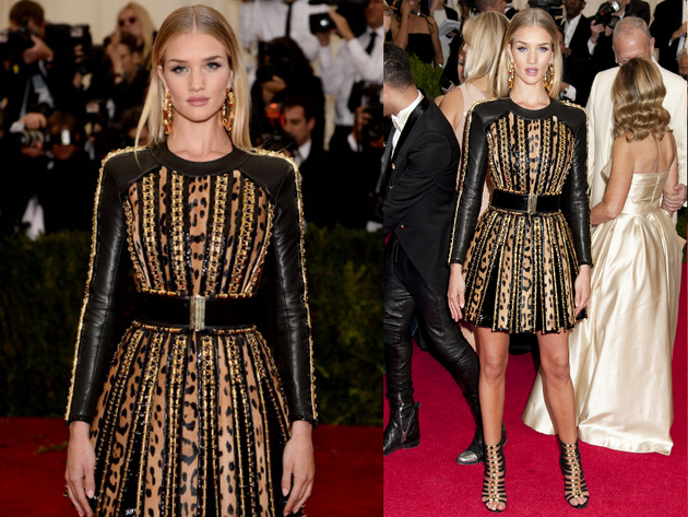 Rosie Huntington Whiteley Dress Met Ball 2014