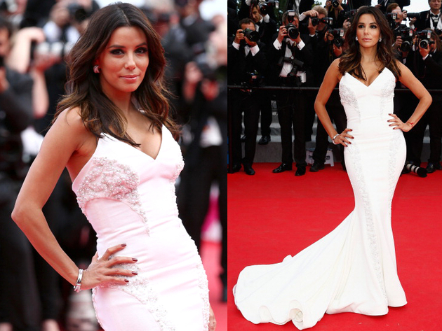 Eva Longoria Gabriela Cadena Dress Cannes 2014 Red Carpet