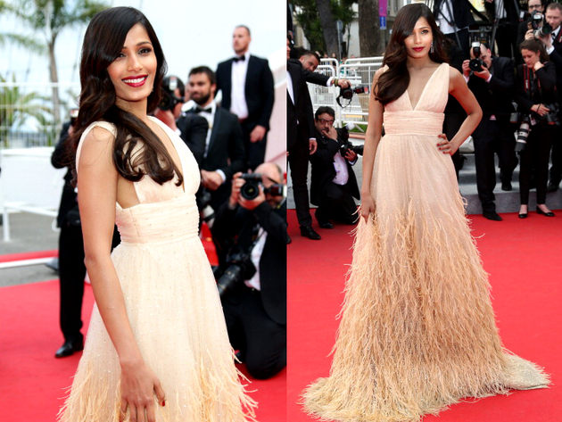 Freida Pinto Michael Kors Dress Cannes 2014 Red Carpet