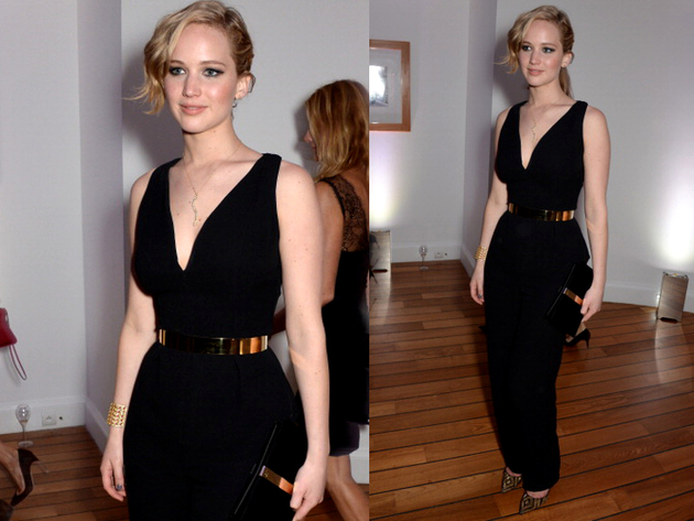 Jennifer Lawrence Dior Jumpsuit Cannes 2014 Red Carpet
