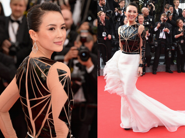 Zhang Ziyi Stephane Rolland Dress Cannes 2014 Red Carpet