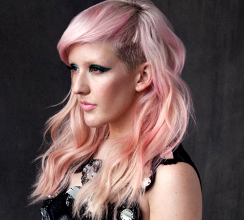 Ellie Goulding With Pink Hair Color