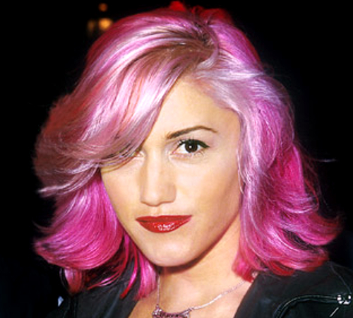 Gwen Stefani With Pink Hair Color