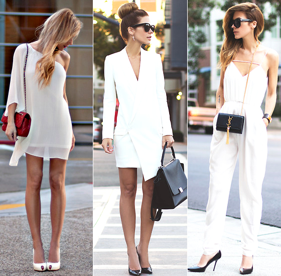 White Outfit Accessories Ideas