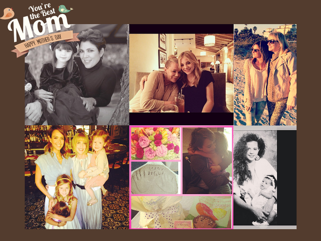 How Celebrities Celebrated Mother's Day