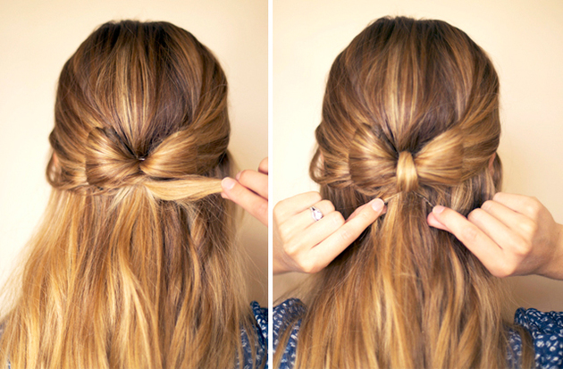 Hair Bow Half Up Half Down Hairstyle