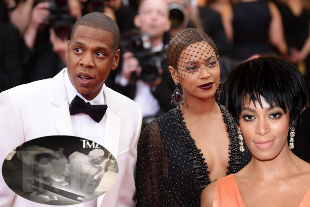 Jay-Z Violently Attacked by Solange After Met Gala 2014 - Fight Video Inside