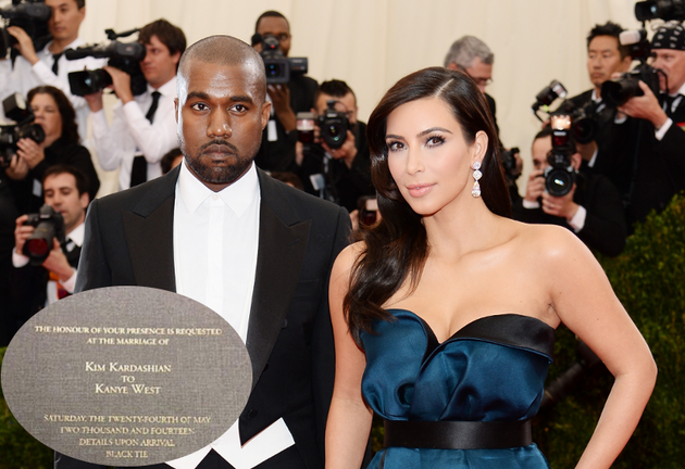 Kim Kardashian Kanye West Wedding Invitation