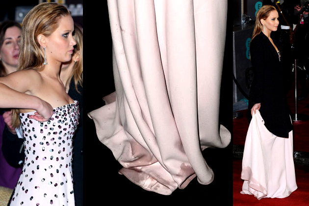 Jennifer Lawrence Dirty Dior Dress