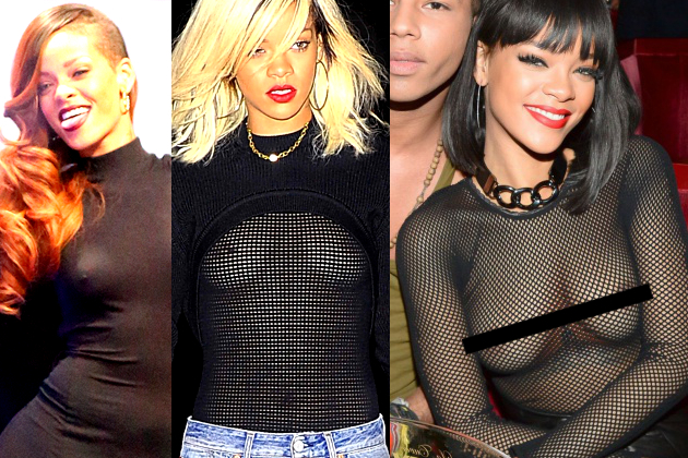 Rihanna Nipple Flash