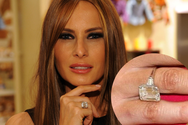 Pictures Most Expensive Celebrity Engagement Rings Melania Knauss Engagement Ring From