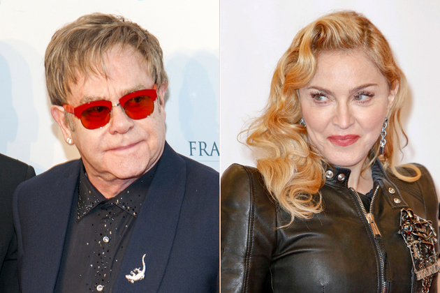 Elton John And Madonna Fight