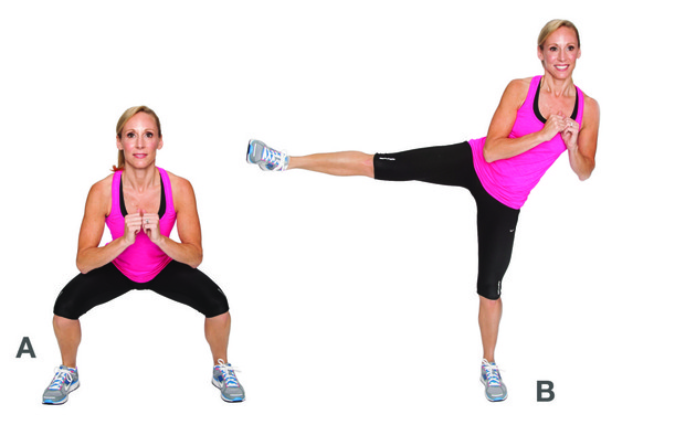 Squat Kick Exercise