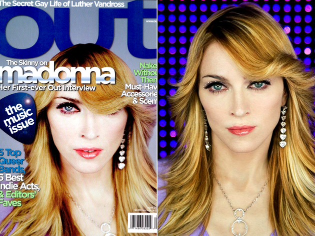 Madonna Photoshop Fail