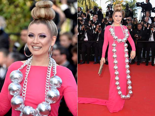 Elena Lenina Crazy Cannes Look