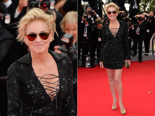 Sharon Stone Cannes 2014 Dress