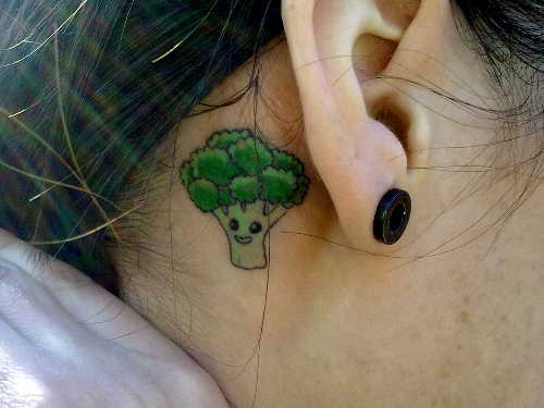Broccoli Tattoo