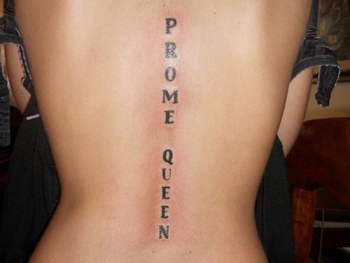 Prome Queen Misspelled Tattoo