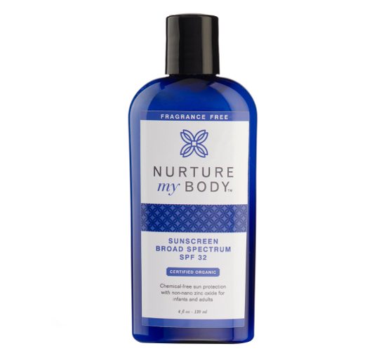 Nurture My Body Organic Sunscreen
