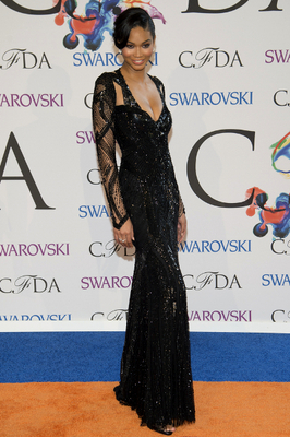 Chanel Iman Dress 2014 Cfda Awards