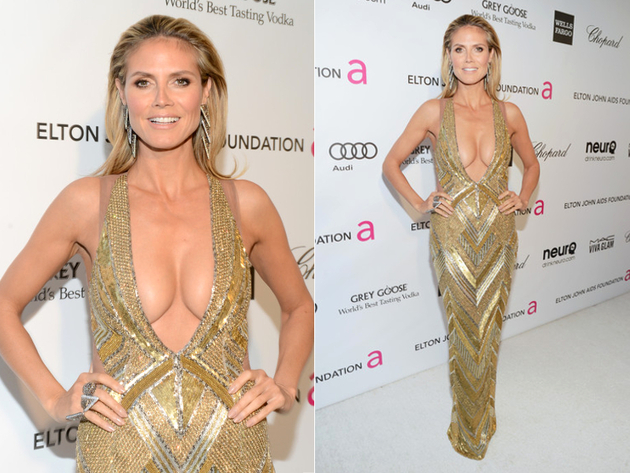 Heidi Klum Worst Red Carpet Dress