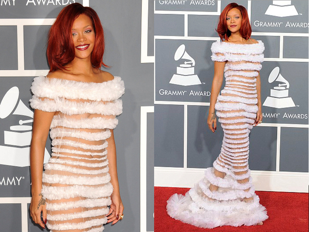 Rihanna Worst Red Carpet Dress