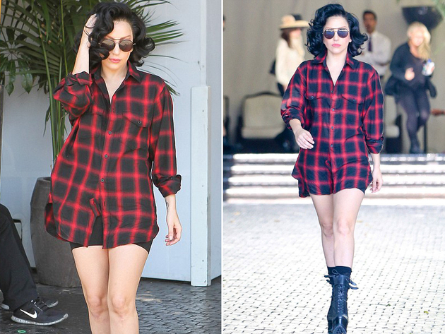 Lady Gaga No Pants Look